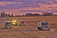 combining with truck